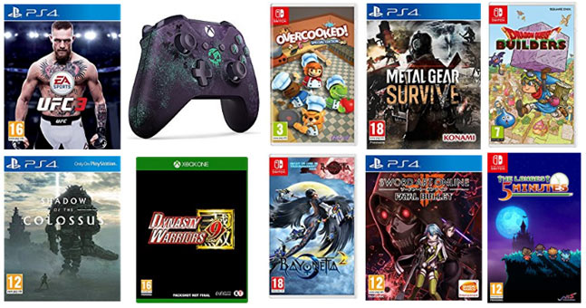 sorties jeux video 2018 ps4 xbox one nintendo switch. Black Bedroom Furniture Sets. Home Design Ideas