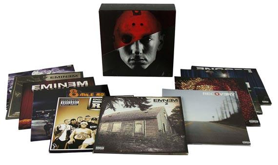 Eminem un coffret collector limité The vinyl Lps et sa discographie
