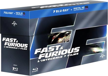 steelbook fast and furious 7 coffret int grale dition limit e collector blu ray dvd. Black Bedroom Furniture Sets. Home Design Ideas