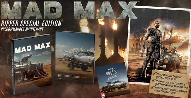 steelbook mad max fury road blu ray dvd 3d coffret collector. Black Bedroom Furniture Sets. Home Design Ideas