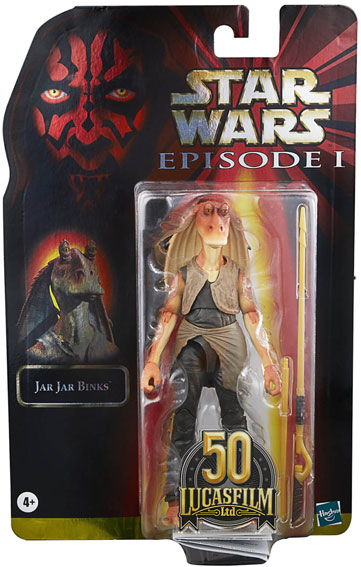 Hasbro Star Wars The Black Series jar jar bings 50 lucasfilm 50th