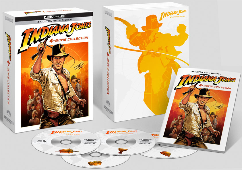indiana jones coffret integrale bluray 4K Ultra HD UHD Steelbook
