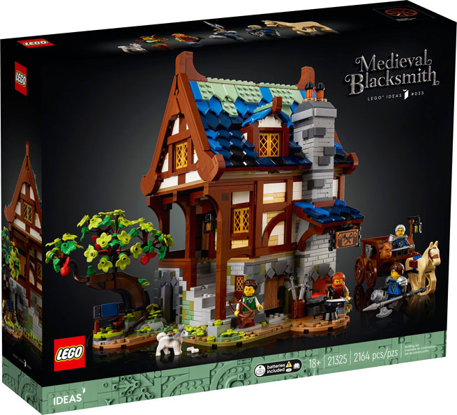 Lego ideas 21325 forgeron medieval blacksmith