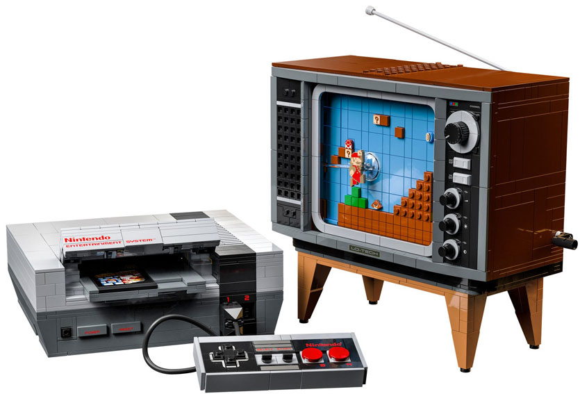 Console Lego Nintendo NES TV tele collection 2020