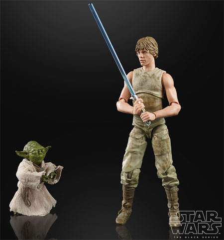 figurine black series star wars luke yoda