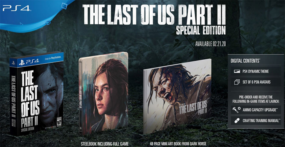 Steelbook Last of us part 2 coffret collector edition speciale