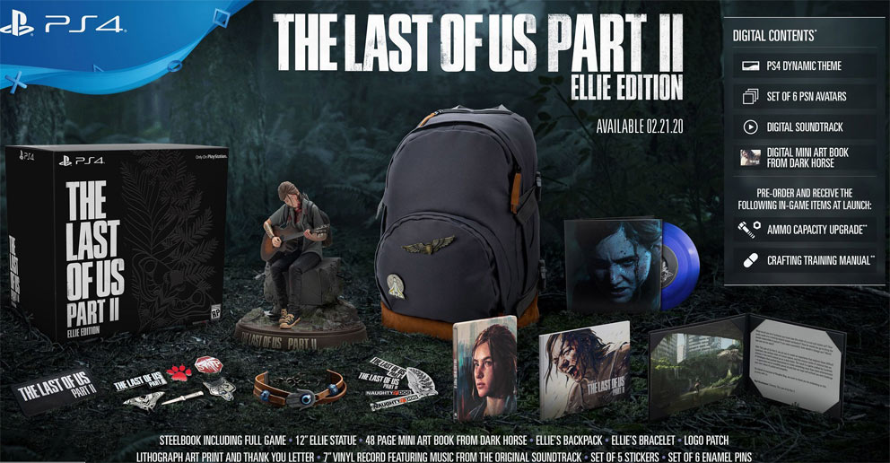 last of us part II ellie edition figurine sac coffret collector 2020